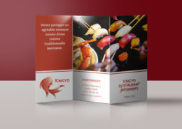 Brochure publicitaire Restaurant Kingyo Paris
